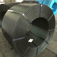 Tianjin China 1860Mpa ASTM A416 post tensioned 7 wire low relaxation pc ht steel strand size for construction