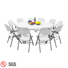 Waterproof Garden Furniture <strong>Plastic</strong> Table And Chair Dining Set