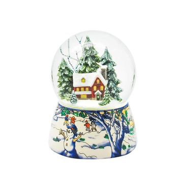 Resin crafts Christmas crystal ball travel souvenir desktop decoration manufacturers custom white snow globe