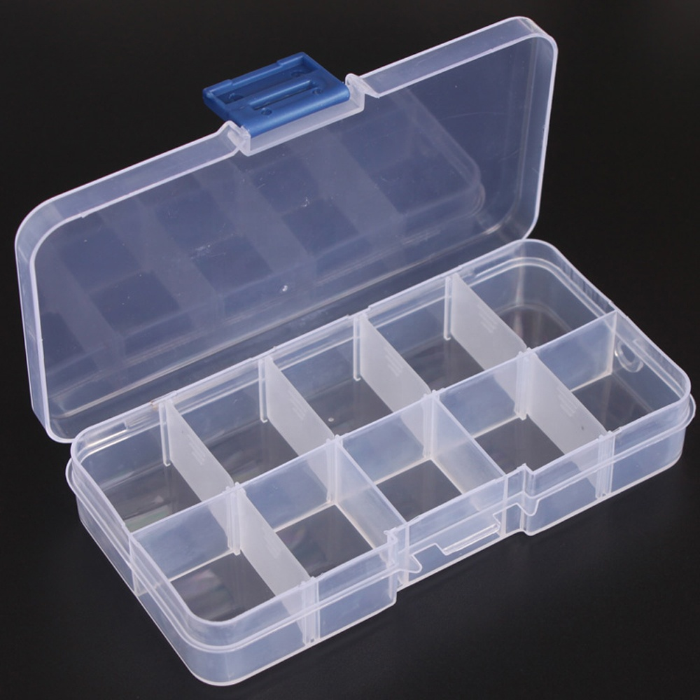 Hot sale 5/10/12/18/24/36 Grids Removable Components Jewelry Bead Craft Storage Box <strong>Plastic</strong>