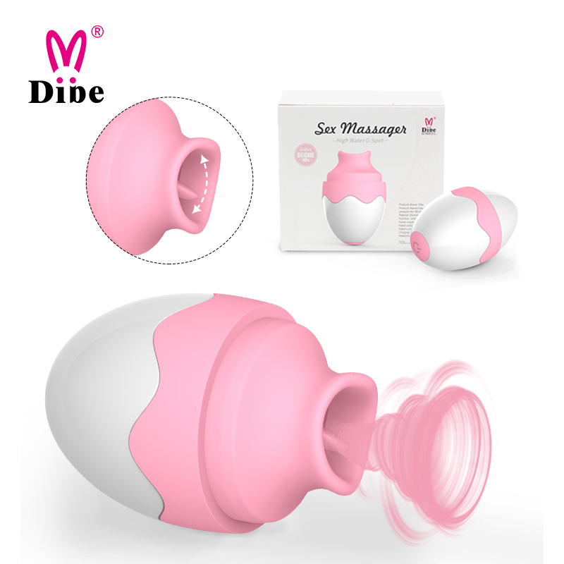 7 Speed USB Waterproof Mute Rechargeable Licking Tongue Pussy Massager <strong>Vibrator</strong>