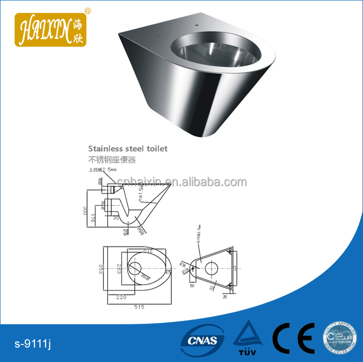 On-Floor, Wall Waste, Blowout Jet Stainless Steel Replacement Security Toilet for Rear Mount (Chase) Application