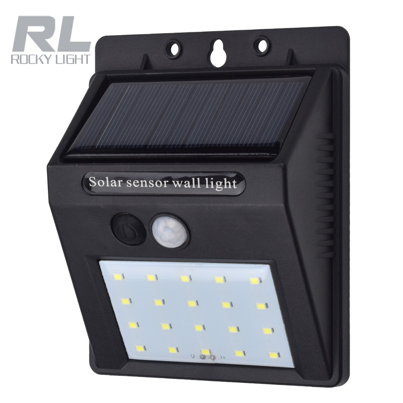 Surface mounted led lights <strong>13</strong>.<strong>W</strong> 9V Outdoor wireless solar supply power motion sensor led cob security garden wall light