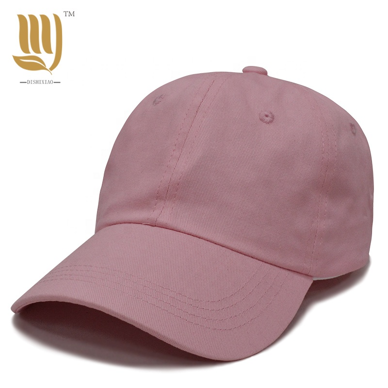 Highly <strong>Quality</strong> 100% Cotton Twill Pink / Black/ Brown Navy Blue/ Red Color Dad Hat Hot Sale Baseball Cap with Soft Front
