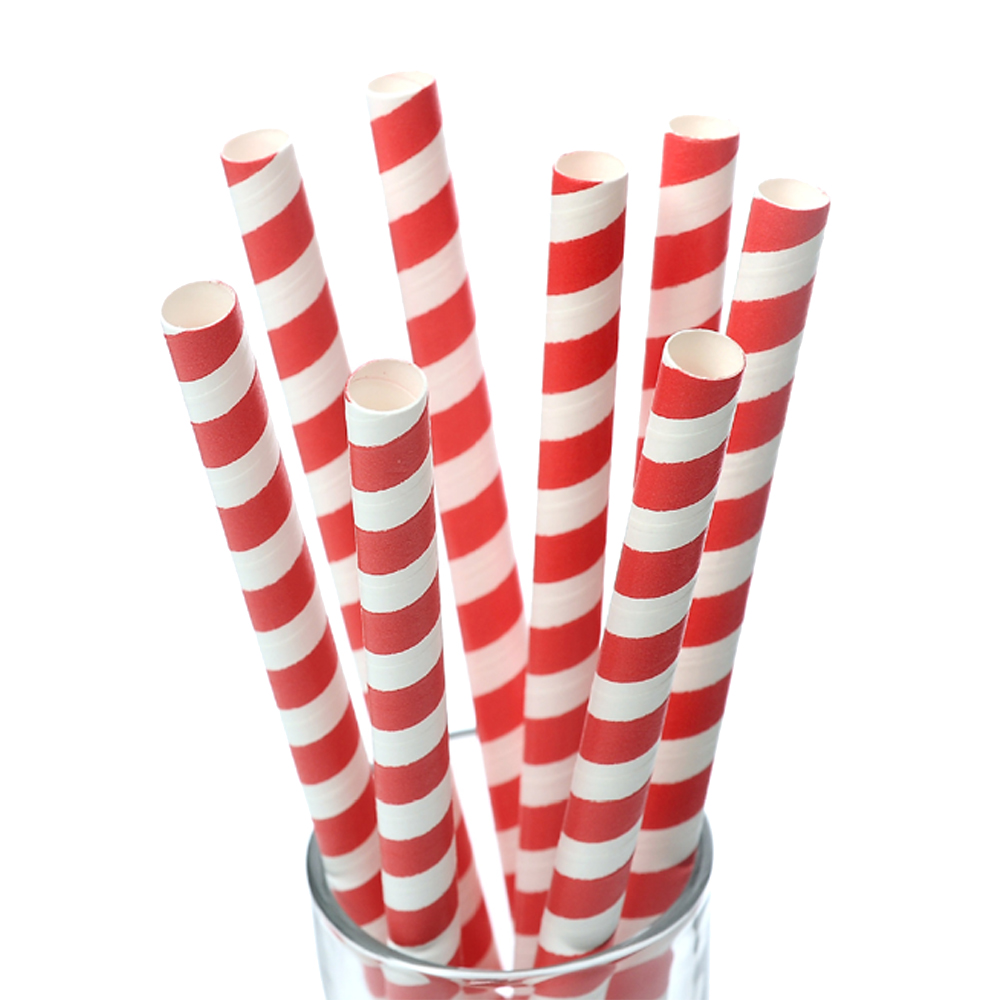 Biodegradable Disposable Colorful multiple food grade 8mm big drinking paper straw for party