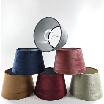 Newly Modern Lampshade Velvet Fabric Lamp Shades Colored Lamp Shades 15*20*13.5cm