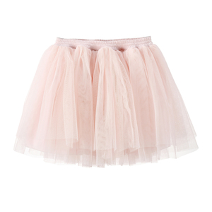 Flofallzique Wholesale Light Pink Baby Girls Birthday Party Skirt Baby Girl Fluffy Tutu Pleated Skirts