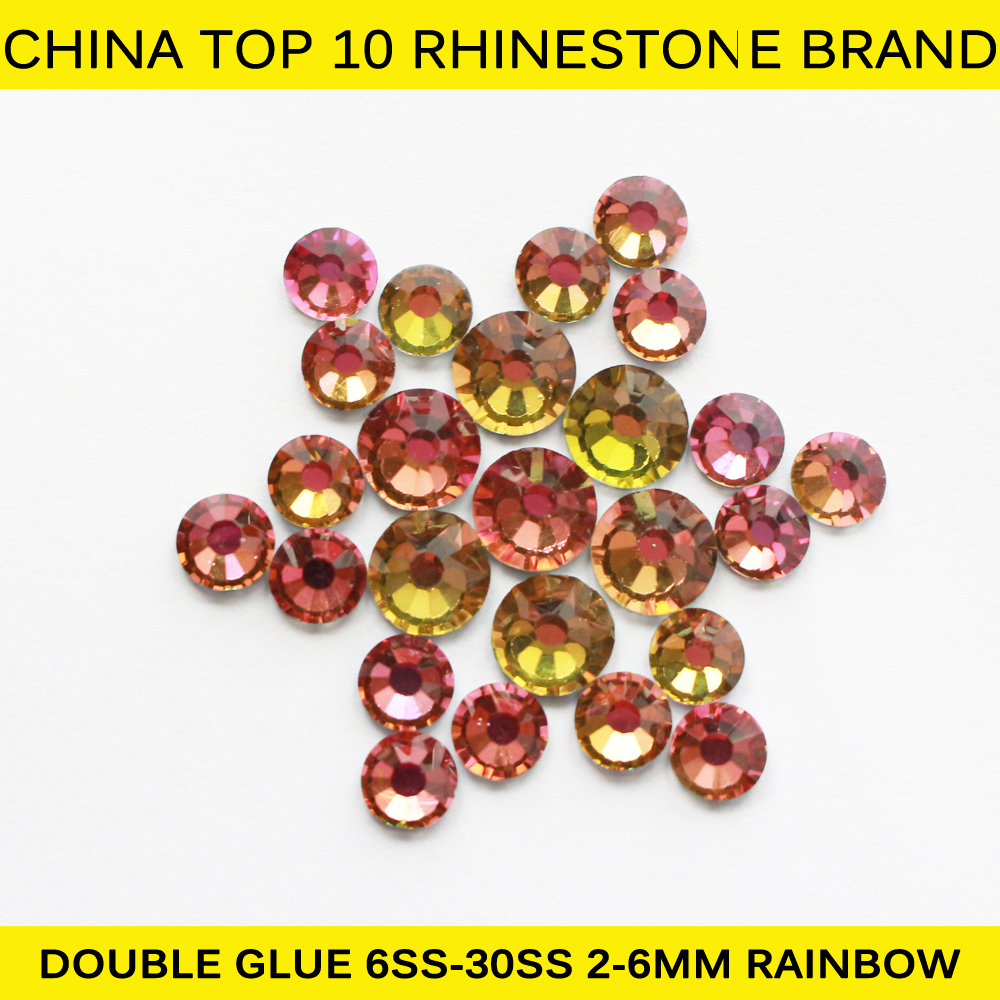 S0801 1440Piece/Bag SS20 Rainbow Heat Transfer Hot Fix Strass Rhinestone for Clothing