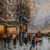 Hot sale Paris bustling Street wall hanging oil Painting for home decoration