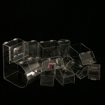 customizes transparent acrylic boxes of various sizes for use in confectionery bulk food display stands supermarket shelves