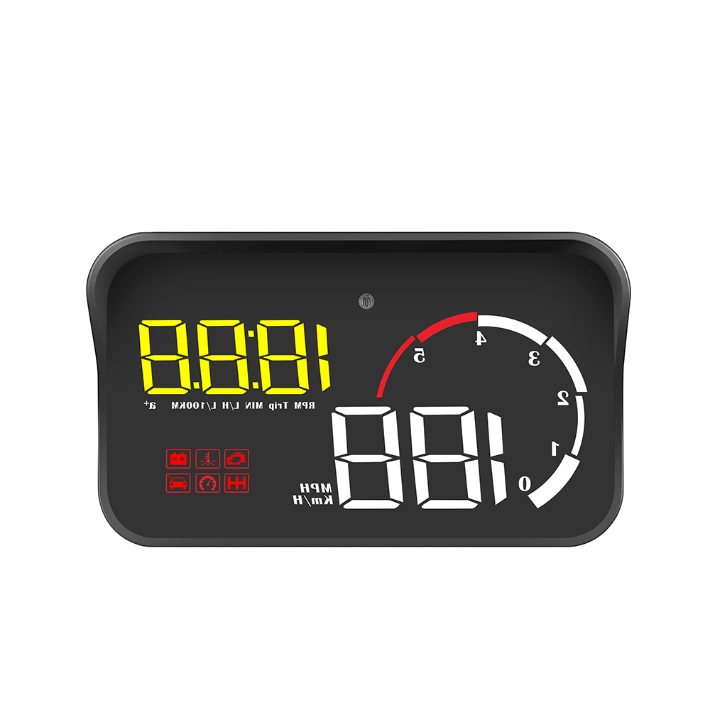 M10 HUD Car Head-up Display Movie <strong>A100S</strong> OBD2 Cable Car Automatic Diagnostic System 3.8-inch Windshield Projecto Car Speed
