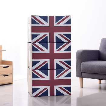2019 Newly Classcing Large Size Printed Flag  Foldable Storage Box