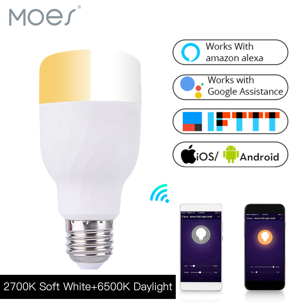 Google Alexa controlled LED light switch wifi smart led bulb 7w <strong>E27</strong>