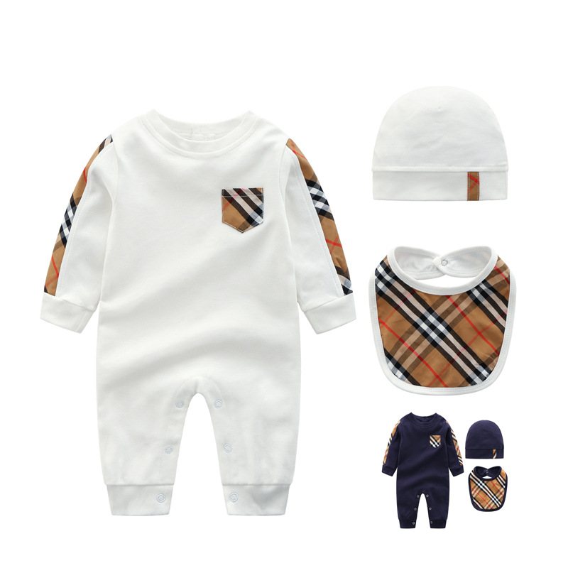 high quality cotton <strong>baby</strong> boy smock romper with hat and short sleeve