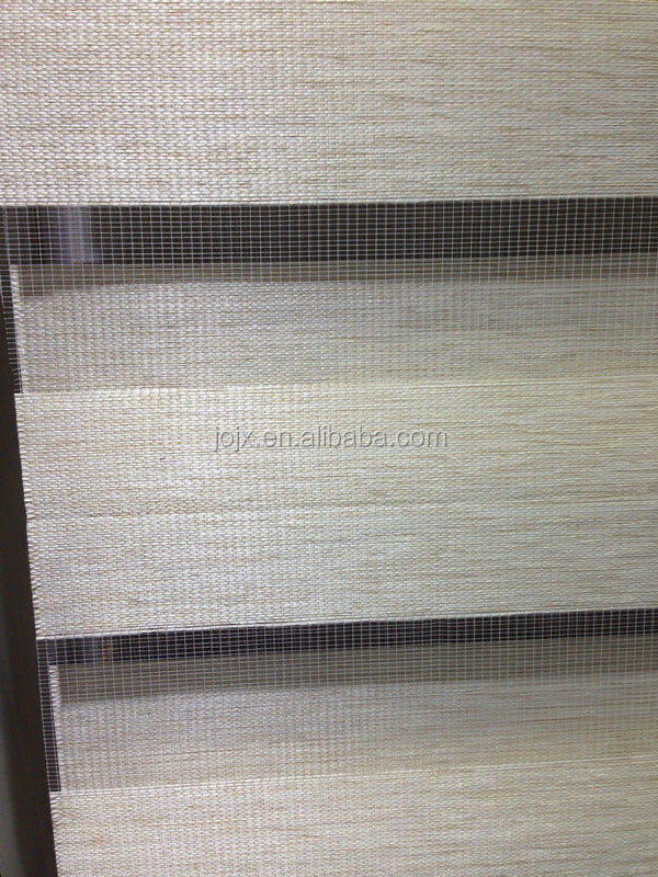 Wood look zebra blinds fabric