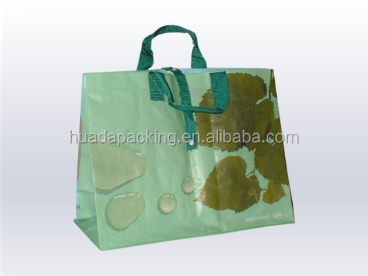 Wholesale custom logo printed recycled and promotional pp laminated non woven shopping tote bags