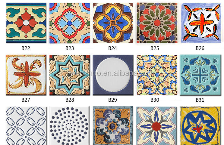 Wholesale Hand printing small size decorative spain style