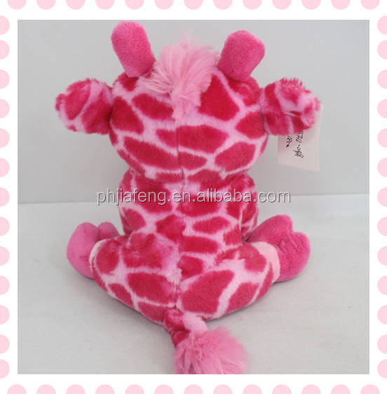 cartoon toys giraffe type dolls fashion plush material stuffed toys with big eye
