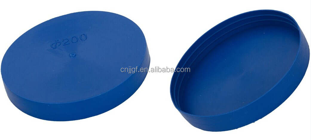 Plastic pipe covers protective cap
