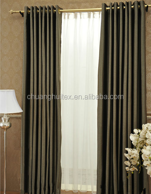 NEW ARRIVAL polyester non-toxic cationic blackout fabric for office curtain