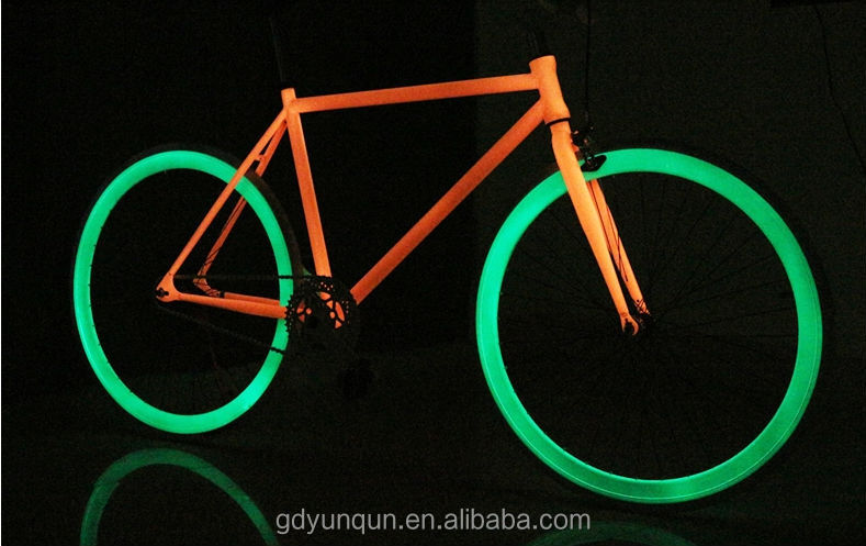 700c luminous fixed gear bicycles glowing in dark fixie
