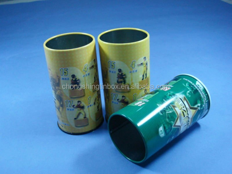 round pencil box pencil tin can