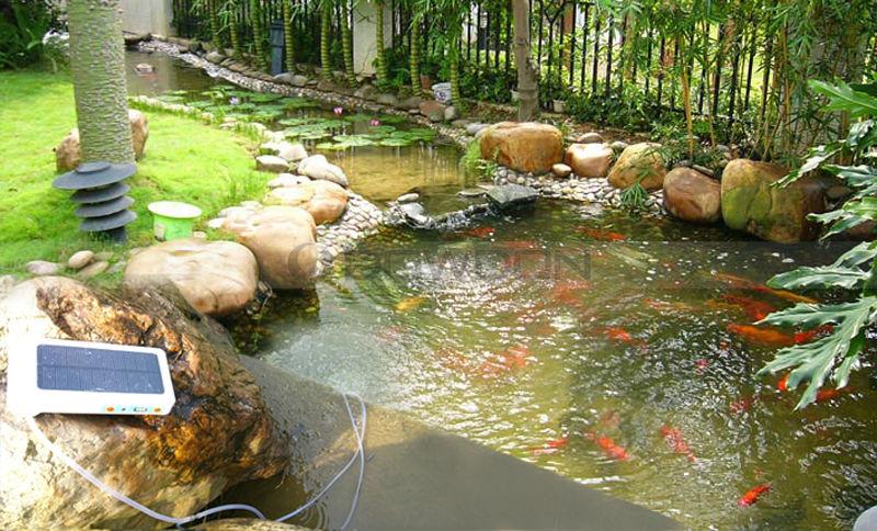 1 8l min portable oxygen generator solar aerator for fish for Portable fish pond