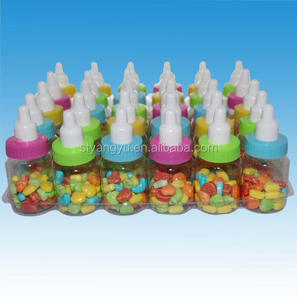 Mix fruits flavors tablet candy packed in bottle
