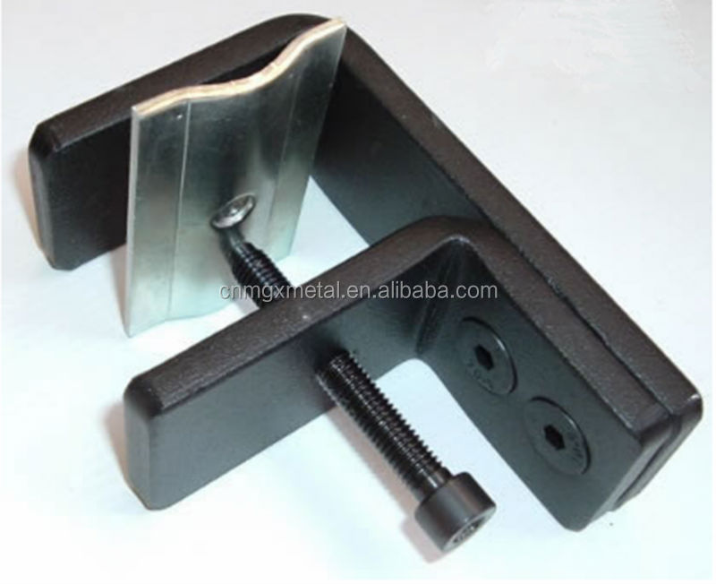 Custom Stamping High Quality Black Anodized Mild Steel Desk Clamp
