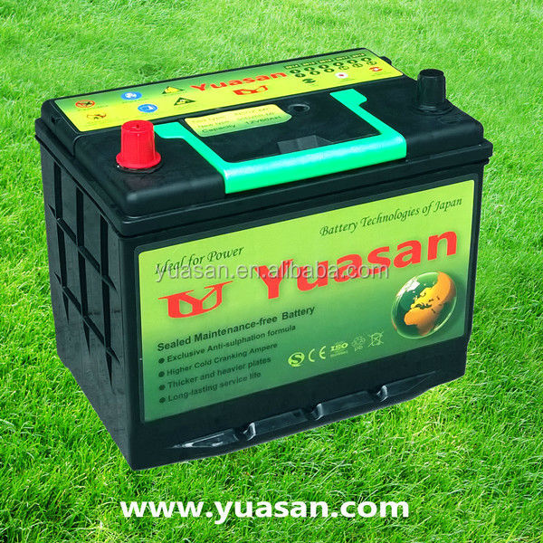 12V60AH 55D26R(N60MF) Calcium Sealed Maintenance Free MF Automobile Car Battery for Starting