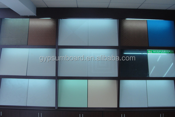 revel edge for drop ceiling/ white color and colourful acoustic fiberglass ceiling tile