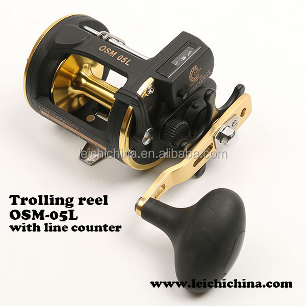Saltwater lever drag line counter fishing trolling reel for Line counter fishing reels