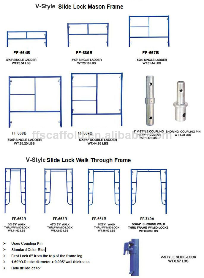 Ladder Frame Scaffolding Cantilever Scaffolding H Frame, View h ...