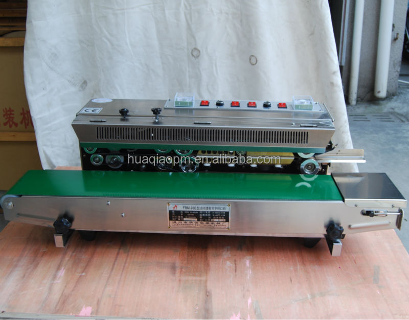 Vertical continuous band sealers with solid ink printing FRM980LW