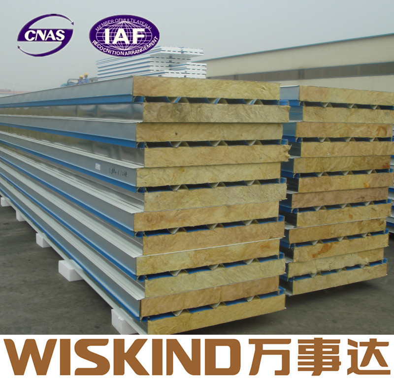 PPGI rockwool roofing sandwich panel