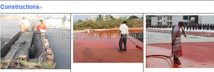 300meters 8lanes synthetic rubber running track