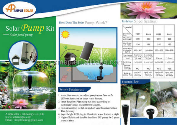 Pond Air Pump/Pool Solar Oxygenator
