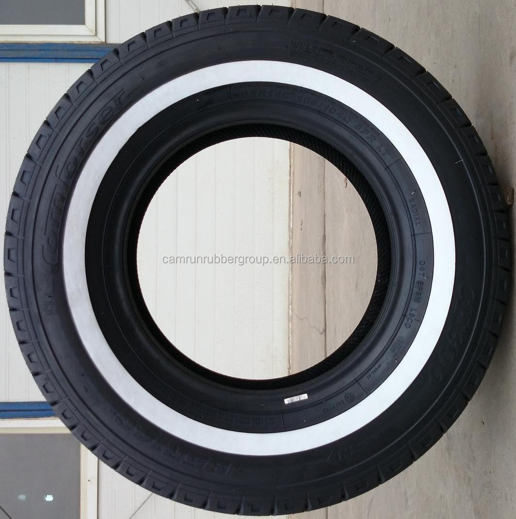 White saidewall 225/65R16C tyres for cars