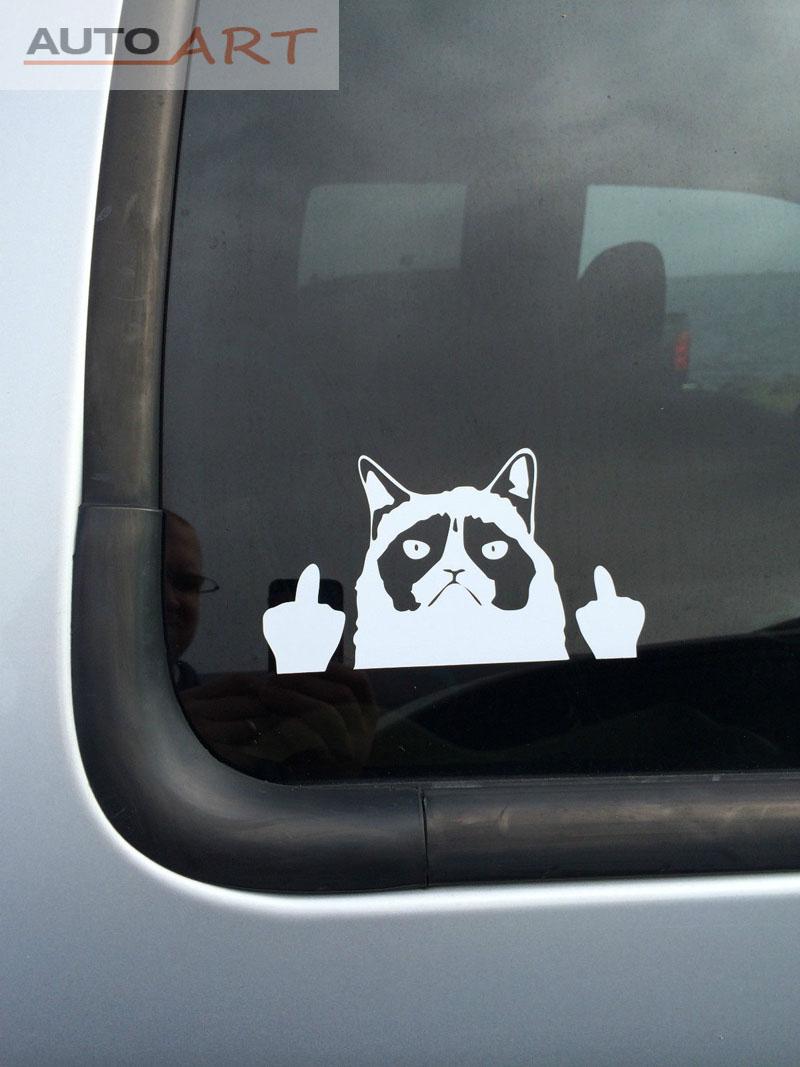 Funny Car Truck Window Vinyl Sticker Grumpy Cat Decal