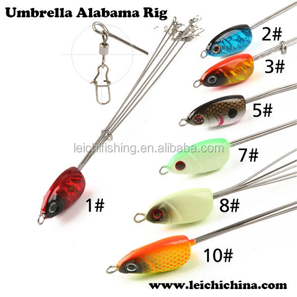 Stock available fishing rig umbrella alabama rig buy for Alabama rig fishing