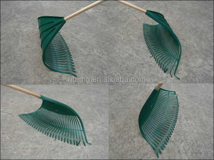 Large Garden Rake with Long Handle