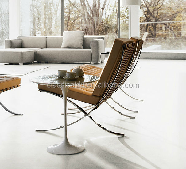 Barcelona chair replica chaise lounge chair leather lounge for Chaise barcelona