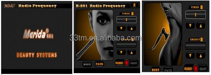 Facial Radio Frequency machine for skin lifting rejuvenation