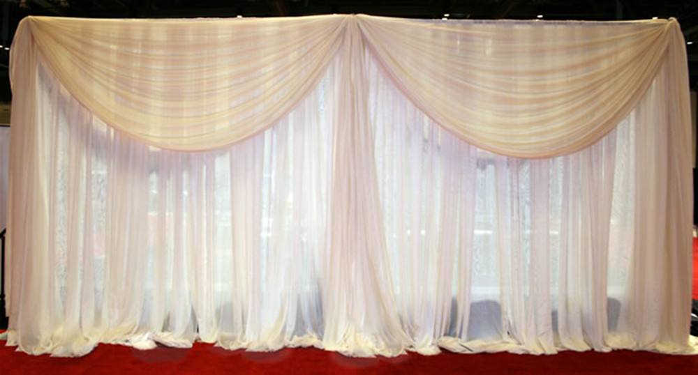 Pipe And Drape Telscopic Post Curtain Tube Wedding Backdrop