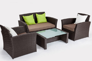 All Weather Wicker Outdoor Double Bed Chaise Lounge