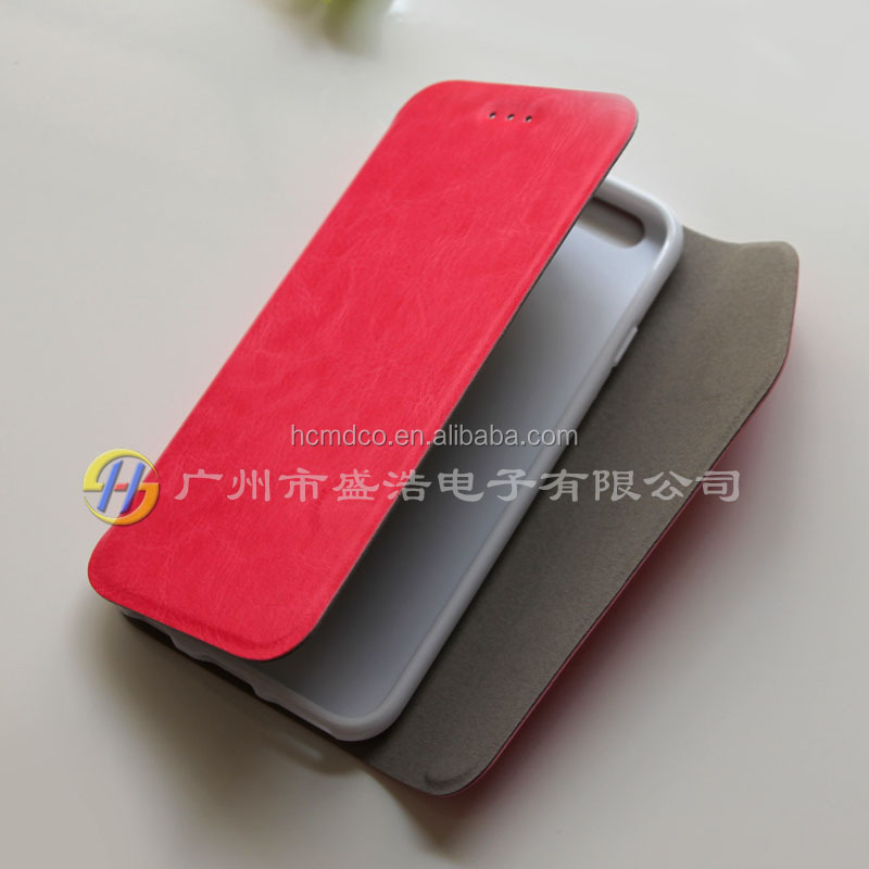 high-grade three fold PU leather mobile phine case cover for Apple for iphone 6 i6 4.7
