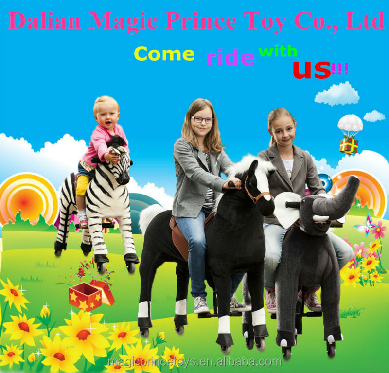(EN71&ASTM&CE)~(Pass!!)~ Dalian Amusement plush horse ride-on/Walking animals horse ride on toy/ZW-8 White Zebra/Magicprince