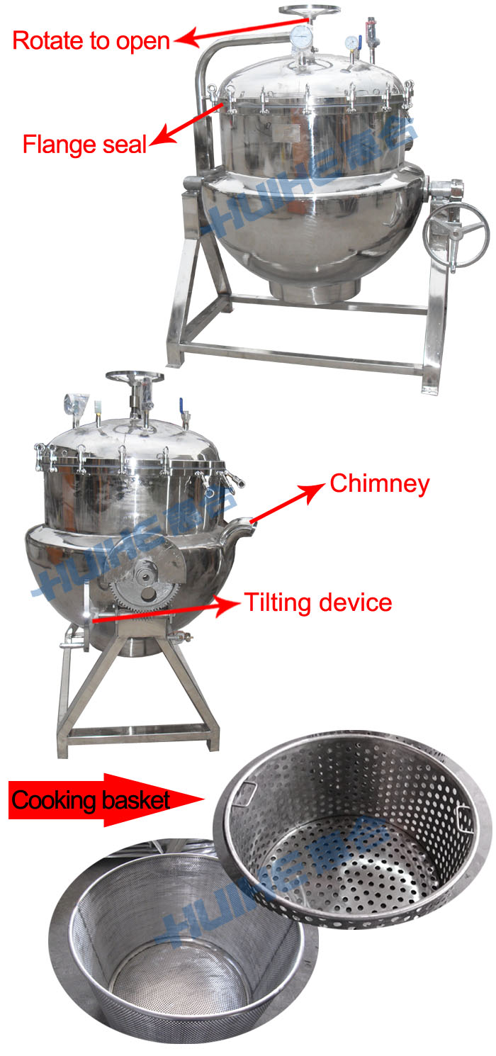 Cooking With A Kettle ~ Stainless steel industrial cooking kettle for boiling