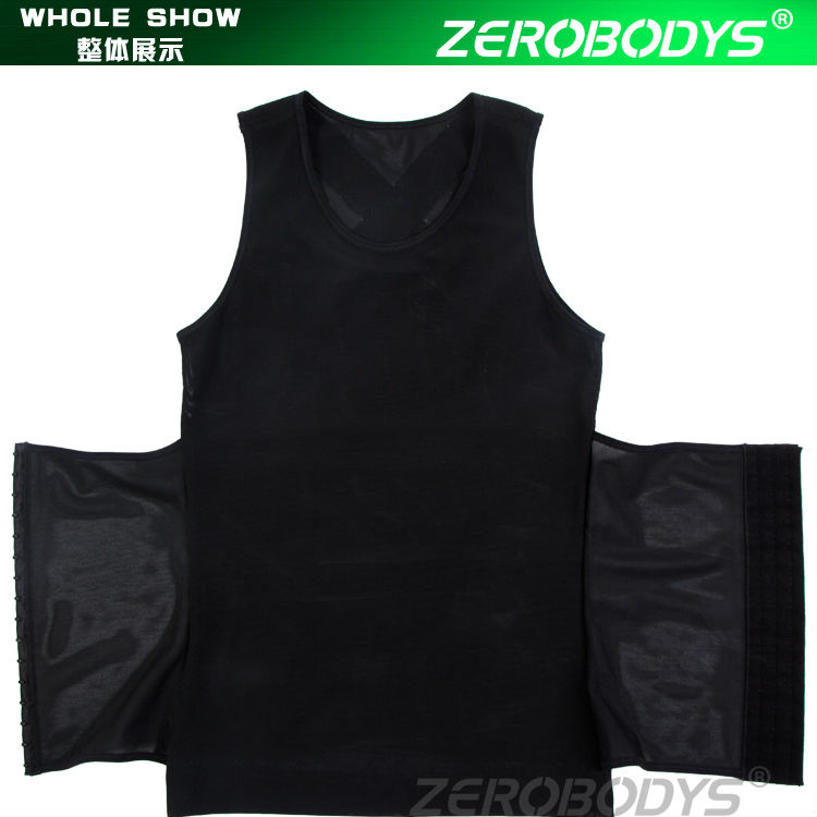 358 BK ZEROBODYS Powerful Mens Body Shaper 300g High Powernet Vest Plus Size Waist Training Corset Men Slim Fit Suits