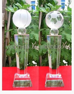 Fashion Crystal Trophy/unique crystal glass award trophy